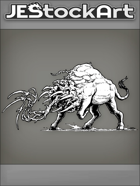 JEStockArt - Fantasy - Bull Infected With Alien Tentacles - INB