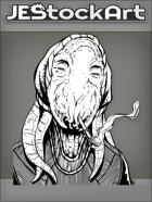JEStockArt - SciFi - Alien Hippie With Tentacles And Pipe - INB