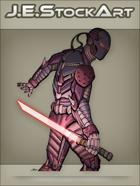 JEStockArt - SciFi - Cyber Ninja with Energy Blade - CNB