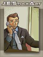 JEStockArt - Modern - Business Manager Talking on Phone - CWB