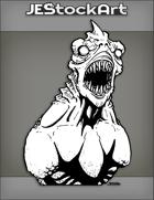 JEStockArt - Fantasy - Alien Fish Race With Long Sharp Teeth And White Eyes - INB