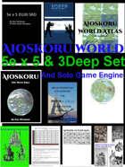 Aioskoru World, 5e x 5 & 3Deep w/ solo play 10 book set [BUNDLE]