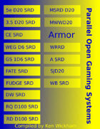 Parallel Open Gaming Systems Armor