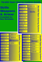 Parallel Open Gaming Systems - Skills & Fighting Gear [BUNDLE]