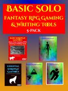 Basic Solo Fantasy RPG Gaming & Writing Tools [BUNDLE]