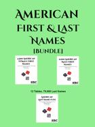 American First & Last Names [BUNDLE]