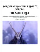 SoRoPlay GamTools Zine: Demon Ref