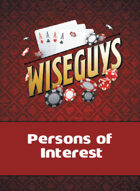 Wiseguys Persons of Interest deck