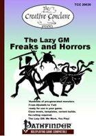 The Lazy GM: Freaks and Horrors