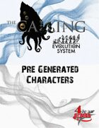 The Calling - Pre-Generated Characters