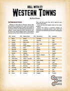 Roll With It! Western Towns