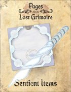 Pages from the Lost Grimoire - Sentient Items / Asleep in Snow