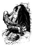 Character ink - mage thief - RPG Stock Art