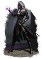 Character - Dark Elf Warlock - RPG Stock Art