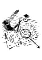 Filler spot - items: carthographers desk - RPG Stock Art