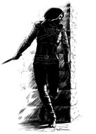 Character ink - assassin - RPG Stock Art