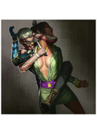 Colour card art - character: genome assassin - RPG Stock Art