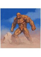 Colour card art - character: earth elemental - RPG Stock Art