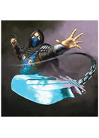 Colour card art - character: ninja ice - RPG Stock Art