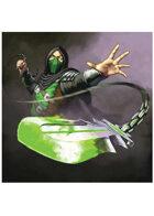 Colour card art - character: ninja poison - RPG Stock Art