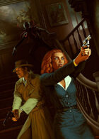 Cover full page - Lovecraftian Detectives - RPG Stock Art