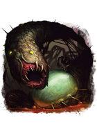 Filler spot colour - creature: shoggoth spawn - RPG Stock Art
