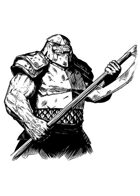 Filler spot - character: orc chief (old school look) - RPG Stock Art