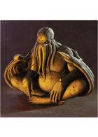 Colour card art - items: statue; cthulhu - RPG Stock Art