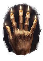 Filler spot colour - items: hand of glory - RPG Stock Art