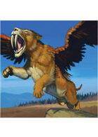 Colour card art - creature: saberwing - RPG Stock Art