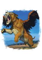 Filler spot colour - creature: saberwing - RPG Stock Art