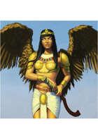 Colour card art - character: celestial - RPG Stock Art