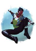 Filler spot colour - character: dokkaebi - RPG Stock Art