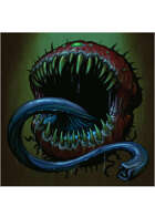 Colour card art - creature: cacodemon - RPG Stock Art