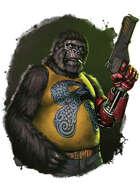 Filler spot colour - character: uplifted gorilla - RPG Stock Art