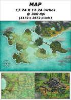 Map - Coastal Swamp Area - RPG Stock Art