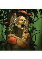 Colour card art - creature: carnivorous tree - RPG Stock Art