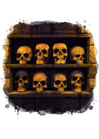 Filler spot colour - items: skull alcove - RPG Stock Art