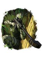 Filler spot colour - character: genome lagomorph sniper - RPG Stock Art