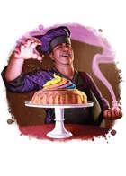 Filler spot colour - character: culinary wizard - RPG Stock Art