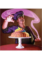 Colour card art - character: culinary wizard - RPG Stock Art