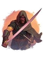 Filler spot colour - character: adventurer with sword & dagger - RPG Stock Art