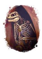 Filler spot colour - items: lizardman skeleton - RPG Stock Art
