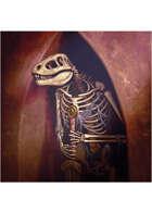 Colour card art - items: lizardman skeleton - RPG Stock Art