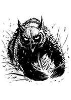Filler spot - creature: owlbear charging - RPG Stock Art