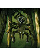 Colour card art - character: droid; spider - RPG Stock Art