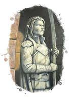Filler spot colour - items: statue; elf warrior - RPG Stock Art