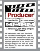 Producer: The Movie-making, story-telling card game