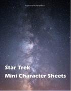 Star Trek Adventures Mini Character Sheets