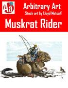 Muskrat Rider Stock Art